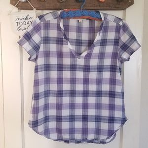 Tops - Cloth & Stone Short Sleeve Pop Over Flannel